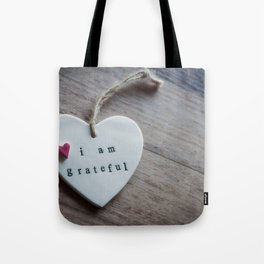 Grateful Heart Tote Bag