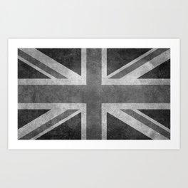 Union Jack B&W 3:5 Art Print
