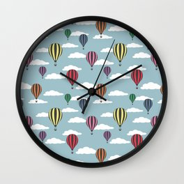 Colorful hot air balloons Wall Clock