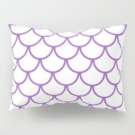 Purple Fish Scales Pattern Pillow Sham