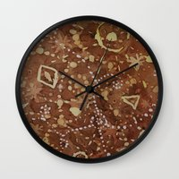 constellations Wall Clocks featuring constellations by rysunki-malunki