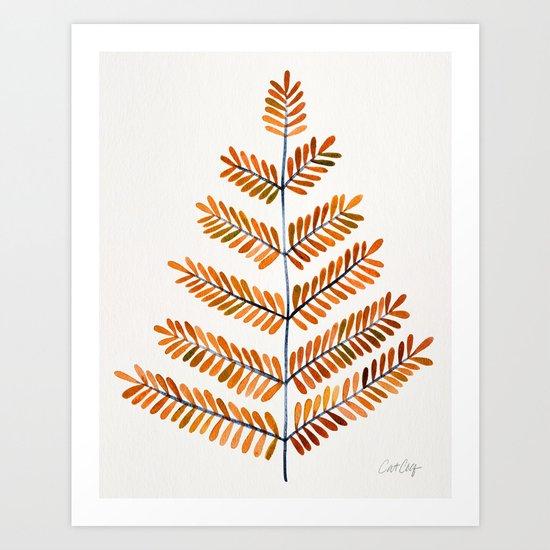 Autumn Leaflets Art Print