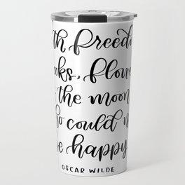 Oscar Wilde Quote Travel Mug