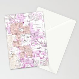 Vintage Map of Palm Springs California (1957) 2 Stationery Cards