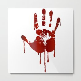 Bloody halloween hand Metal Print