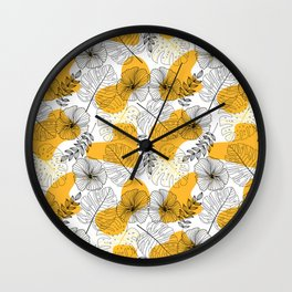 Tropical Pattern1 Wall Clock