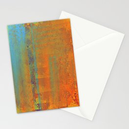 Abstract in Gold, Copper and Aqua Stationery Cards