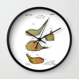 Golf Club Heads Patent - 1926 Wall Clock