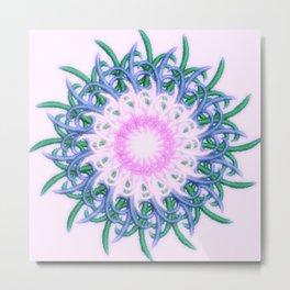 Mandala #108, Harmony in Pink Metal Print