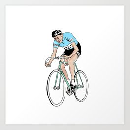 Coppi on Track Art Print