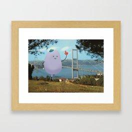 Attack of the giant friendly Jellybean Framed Art Print