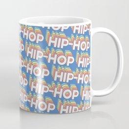 Hip-hop Trendy Rainbow Text Pattern (Blue) Coffee Mug