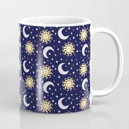 Greek Inspired Suns and Moons with Stars Coffee Mug