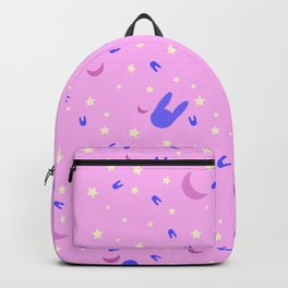 Sailor Moon inspired vibrant pattern on pink Backpack