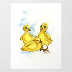 Ducklings Art Print