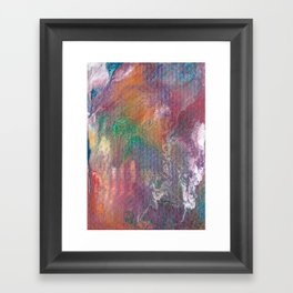 Colorful Abstract Rainbow Flow Painting Framed Art Print