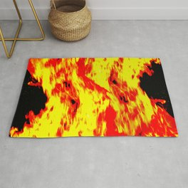 concentrated fire Rug