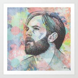 Caleb Followill - Beautiful War Art Print
