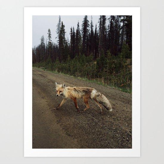 Fox Trot Art Print