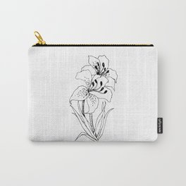 Lillies - Ink Serie Carry-All Pouch