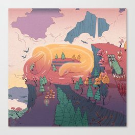 The creature of the mountain Canvas Print