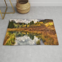 Transition Of The Seasons in Rocky Mountains Colorado by OLena Art Rug
