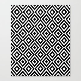 black and white symetric patterns 5- Canvas Print