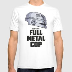 Full Metal Cop MEDIUM Mens Fitted Tee White