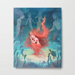 Living Coral Metal Print