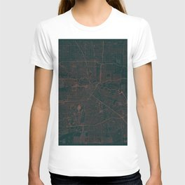 Houston Map Red T-shirt