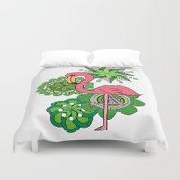 flamingo Duvet Covers featuring Flamingo by tamaradeborah