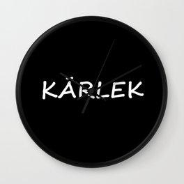 Kärlek, Swedish Love Wall Clock