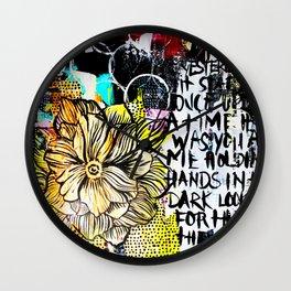 big messy yellow flower Wall Clock