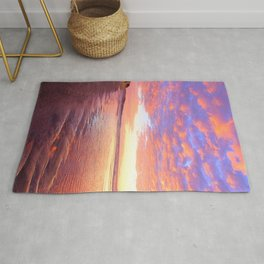 Life's a Beach, A Pink Beach by Reay of Light Photography Rug