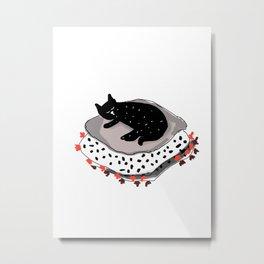 cat love Metal Print