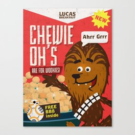 Chewy ohs Canvas Print