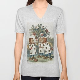 Alice in Wonderland - Painting the roses Unisex V-Neck