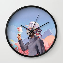 Floral Monkey Wall Clock