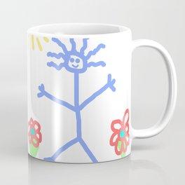 child's drawing with happy people Coffee Mug