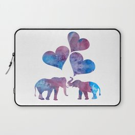 Elephants art Laptop Sleeve