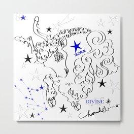 Taurus:calligraphic Metal Print
