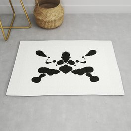 abstract shape psychological test board Rorschach type Rug