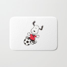 snoopy soccer Bath Mat