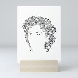 Gwen, in transparent/black Mini Art Print