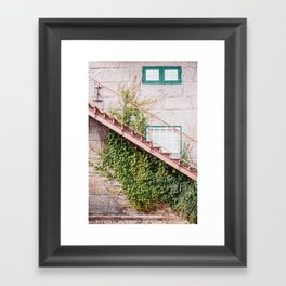 Up the Stairs Framed Art Print