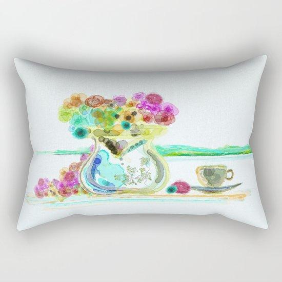 morning tea Rectangular Pillow
