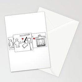 Mousetrap Stationery Cards