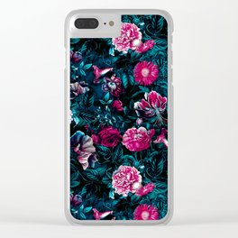 NIGHT GARDEN XII Clear iPhone Case
