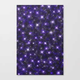 Ultra Violet Stars in a Purple Galaxy Canvas Print