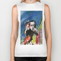 nick cave Biker Tanks featuring Nick Cave Red Right Hand by Caitlyn Shea
